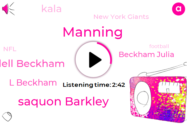 New York Giants,Manning,Saquon Barkley,Ila Odell Beckham,L Beckham,NFL,Beckham Julia,Kala,Stephen,Football,Two Hundred Yards,Seventy Three Yards,Eighty Eight Yards