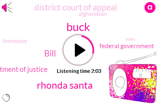 Rhonda Santa,Tennessee,Department Of Justice,Texas,Federal Government,Afghanistan,Oklahoma,Florida,Arkansas,Missouri,Tallahassee,Buck,District Court Of Appeal,Bill
