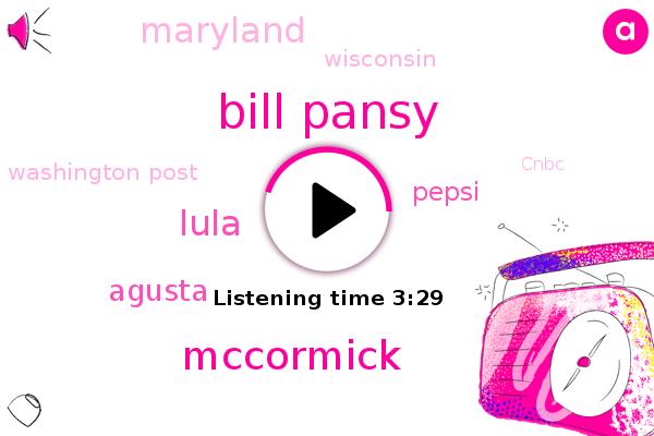 Washington Post,Bill Pansy,Agusta,Mccormick,Lula,Pepsi,Maryland,Wisconsin,Cnbc