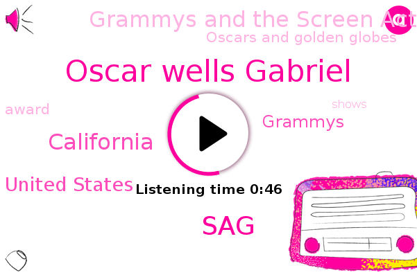 Grammys And The Screen Actors Guild Awards,SAG,Grammys,Oscars And Golden Globes,California,Oscar Wells Gabriel,United States