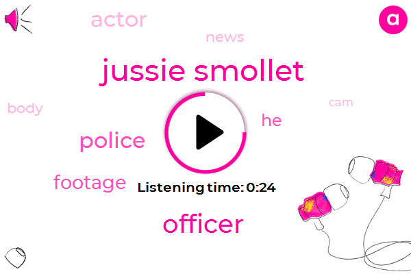 Listen: New police video shows Jussie Smollett with rope around neck