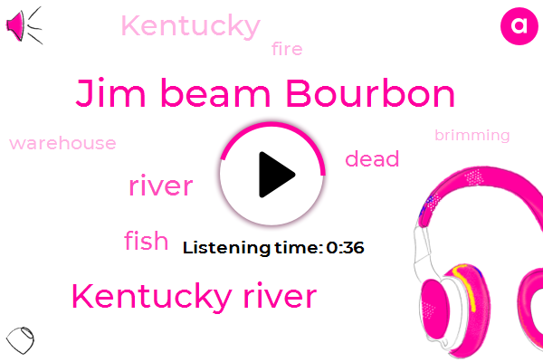 Listen: The Kentucky River is brimming with dead fish after a fire at a bourbon warehouse