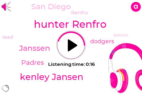 Hunter Renfro,Kenley Jansen,Padres,San Diego,Dodgers,Janssen