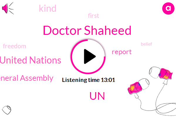 United Nations,Un General Assembly,Doctor Shaheed,UN,Three Years,Six Months