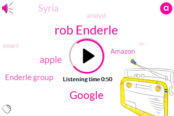 Google,Syria,Apple,Enderle Group,Amazon,Analyst,Rob Enderle,Seventy Five Degrees