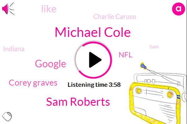 Michael Cole,Sam Roberts,Google,Corey Graves,NFL,Charlie Caruso,Indiana,SAM,PAT,WWE,Barsha,CBS,Alastair,Goldberg,Thirteen Thousand Dollars,Seven Dollars