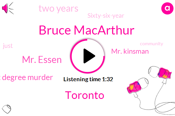 Bruce Macarthur,Toronto,Mr. Essen,First Degree Murder,Mr. Kinsman,Two Years,Sixty-Six-Year