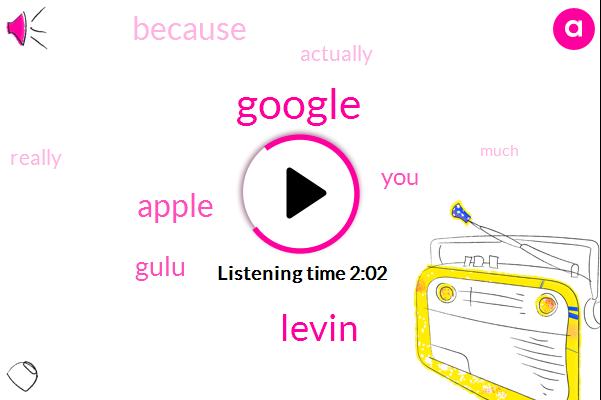 Google,Levin,Apple,Gulu