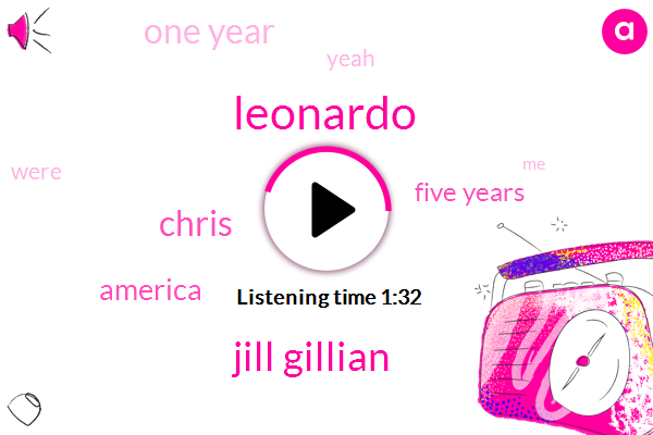 Leonardo,Jill Gillian,Chris,America,Five Years,One Year