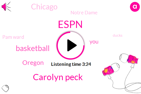 Espn,Carolyn Peck,Basketball,Oregon,Chicago,Notre Dame,Pam Ward,Ducks,China,Analyst,Football