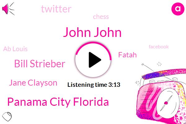 John John,Panama City Florida,Bill Strieber,Jane Clayson,Fatah,Twitter,Chess,Ab Louis,Facebook,Writer,N._P._R.,Scientist,Fifty Dollars