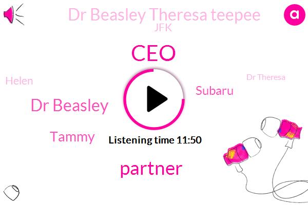 CEO,Partner,Dr Beasley,Tammy,Subaru,Dr Beasley Theresa Teepee,JFK,Helen,Dr Theresa,Dr Teresa,Africa,Dr Tb,Boohoo Crimea River,Justice,Vikas,Abbas,Bill,Rachel,Carol