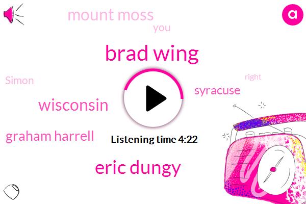 Brad Wing,Eric Dungy,Wisconsin,Graham Harrell,Syracuse,Mount Moss,Simon,Matthew,Marshall