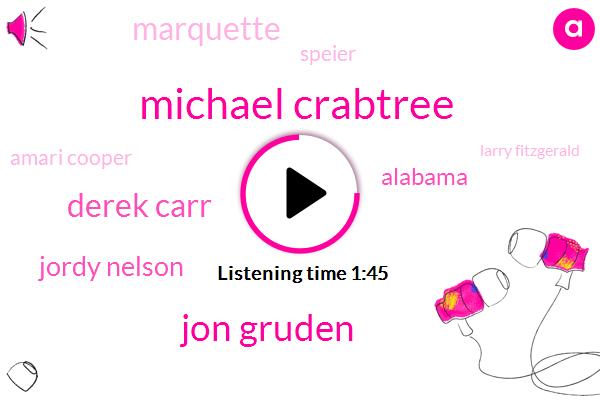 Michael Crabtree,Jon Gruden,Derek Carr,Jordy Nelson,Alabama,Marquette,Speier,Amari Cooper,Larry Fitzgerald,Julio Jones