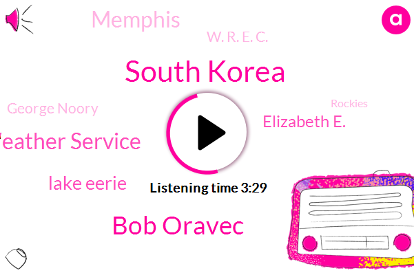 South Korea,Bob Oravec,National Weather Service,Lake Eerie,Elizabeth E.,Memphis,W. R. E. C.,George Noory,Rockies,Steve Coyle,Cheryl Jones,Great Lakes,Buffalo Macy,FOX,Georgia,Investigative Reporter