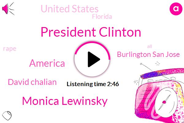 President Clinton,Monica Lewinsky,America,David Chalian,Burlington San Jose,United States,ABC,Florida,Rape