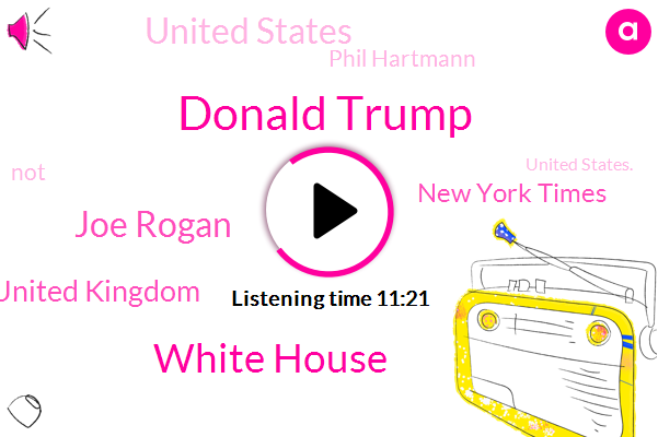 Donald Trump,White House,Joe Rogan,United Kingdom,New York Times,United States,Phil Hartmann,TIM,United States.,Imperial College,Pete,Michaud,Porn Magazine,Peter,Deirdre,F. T. A.,Andy Dick