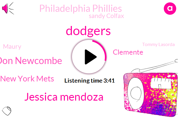 Baseball,Dodgers,Jessica Mendoza,Don Newcombe,New York Mets,Clemente,Philadelphia Phillies,Sandy Colfax,Maury,Tommy Lasorda,Seattle,Yankee Stadium,Red Sox,Mariners,Atlanta Braves,Official,Consultant,Fifteen Years,Three Days