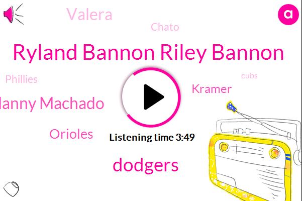 Ryland Bannon Riley Bannon,Dodgers,Manny Machado,Orioles,Kramer,Valera,Chato,Phillies,Cubs,Braves,Chapman Gleyber Torres,Rubin,Editor,Twenty Two Years,Two Three Months,Two Years