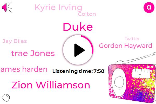Duke,Syracuse,Basketball,Zion,Zion Williamson,Twitter,Trae Jones,James Harden,NFL,Gordon Hayward,Cam Reddish,Kyrie Irving,ACC,NBA,Colton,Jay Bilas