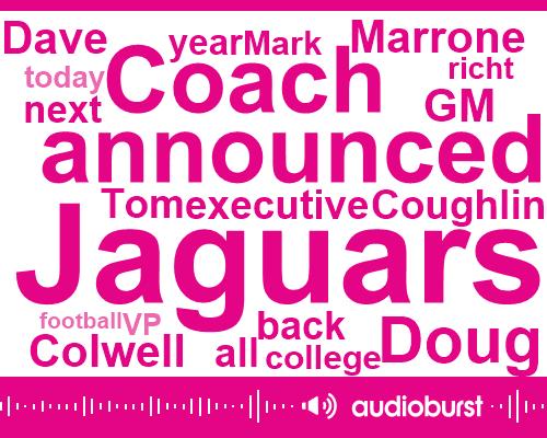 Tom Coughlin,Doug Marrone,Dave Colwell,Executive Vp,Jaguars,Houston Cougars,Mark Richt,GM,Miami,Football