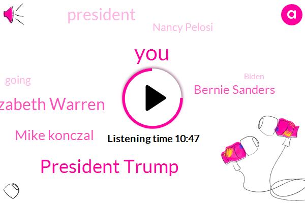 President Trump,Senator Elizabeth Warren,Mike Konczal,Bernie Sanders,Nancy Pelosi,Biden,Hillary Clinton,Democratic Party,Casio,John Kirkman,AFC,Politico,Instagram,San Antonio,Roosevelt Institute,John Bresnahan,President Obama