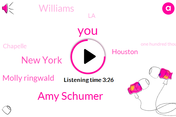 Amy Schumer,New York,Molly Ringwald,Houston,Williams,LA,Chapelle,One Hundred Thousand Dollars,Twenty-Seven-Year,Twenty Seven Year,Twenty Years,Five Months