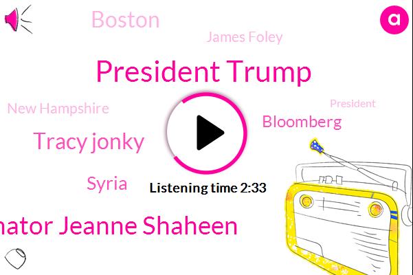 WBZ,President Trump,Senator Jeanne Shaheen,Tracy Jonky,Syria,Boston,Bloomberg,James Foley,New Hampshire,Wayfair,Karyn Regal,Senator,BBC,Kim Tunnicliffe,Wells Fargo,Willy Wonka,Murder