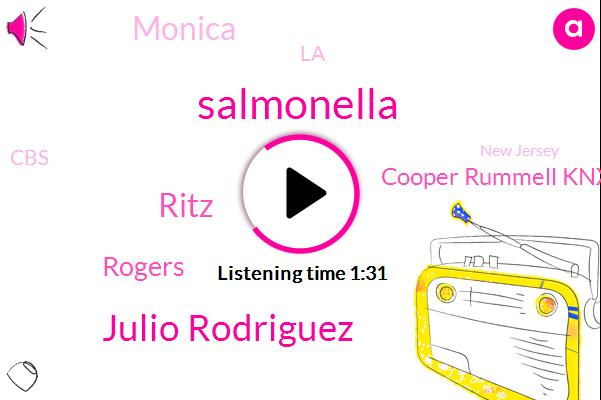 Salmonella,Julio Rodriguez,Ritz,Rogers,Cooper Rummell Knx,Monica,LA,CBS,New Jersey,Stingray,New York,Seattle
