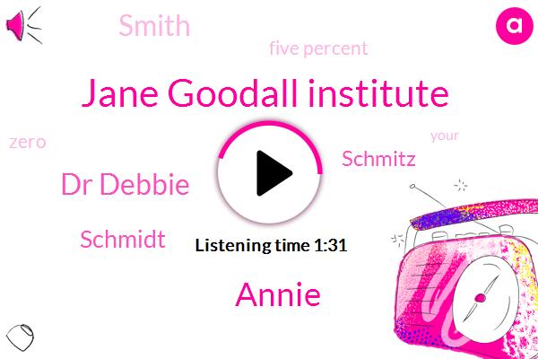 Jane Goodall Institute,Annie,Dr Debbie,Schmidt,Schmitz,Smith,Five Percent