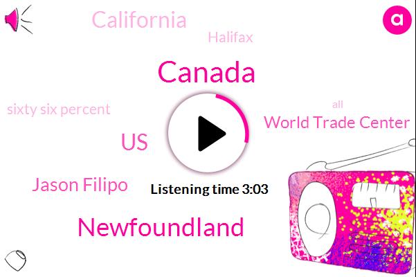 Canada,Newfoundland,United States,Jason Filipo,World Trade Center,California,Halifax,Sixty Six Percent