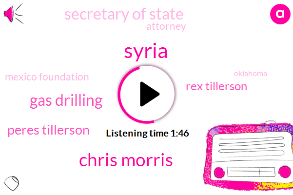 Syria,Chris Morris,Gas Drilling,Peres Tillerson,Rex Tillerson,Secretary Of State,Attorney,Mexico Foundation,Oklahoma,Legislature,Chemical Weapons,Russia,State Law,Hector Balderas,Mexico,Pat Couture,Executive Director