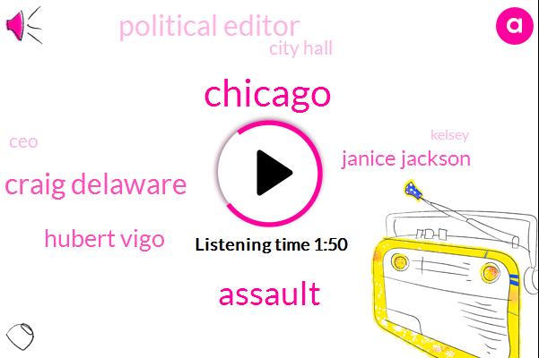 Assault,Craig Delaware,Hubert Vigo,Janice Jackson,Chicago,Political Editor,City Hall,CEO,Kelsey,Eighty Four Percent