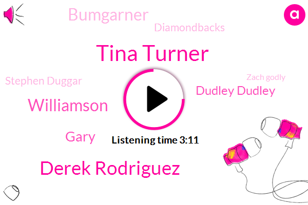 Tina Turner,Derek Rodriguez,Williamson,Gary,Dudley Dudley,Bumgarner,Diamondbacks,Stephen Duggar,Zach Godly,AT,Vegas,Larry,Five Days