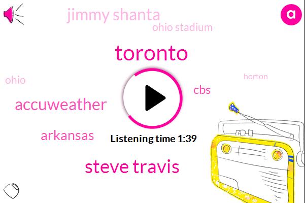 Toronto,Steve Travis,Accuweather,Arkansas,CBS,Jimmy Shanta,Ohio Stadium,Ohio,Horton,Alex Warden,Kansas City,Baseball,Kevin Miller,Honda,Chris Beal,Steve Futterman,Rome,Ninety Two Degrees,Twelve Days