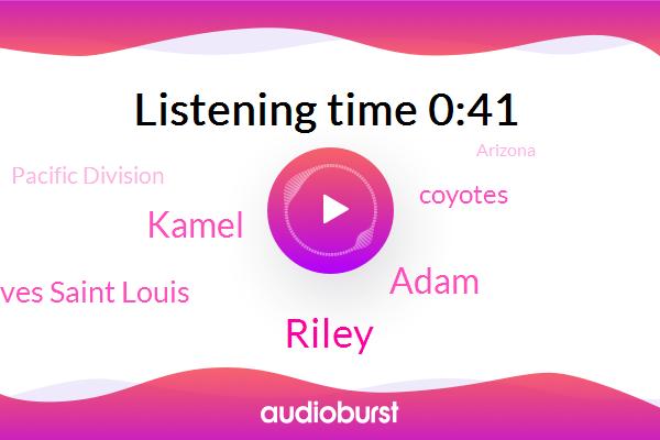 Coyotes,Riley,Adam,Arizona,Kamel,Pacific Division,Reeves Saint Louis