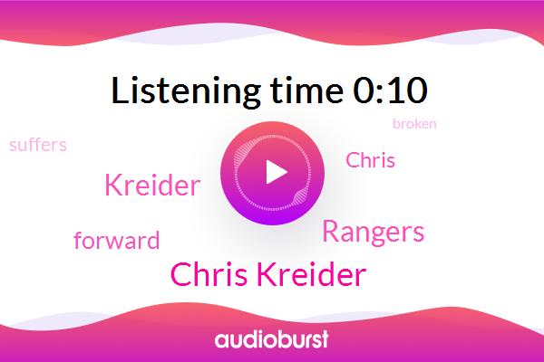 Rangers,Chris Kreider