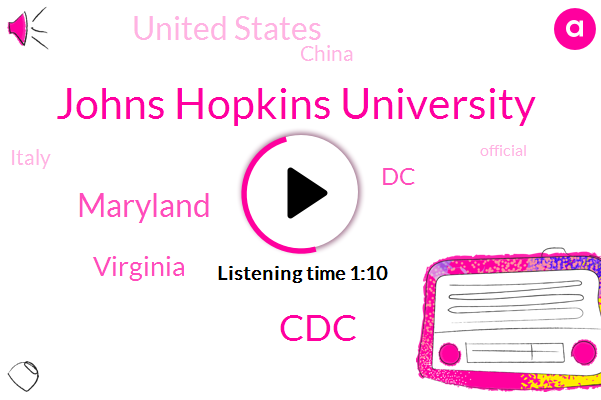 Virginia,Maryland,DC,United States,Johns Hopkins University,China,Italy,CDC,Official