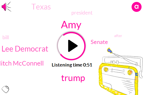 AMY,Senate,Donald Trump,Sheila Jackson Lee Democrat,Texas,Mitch Mcconnell,President Trump