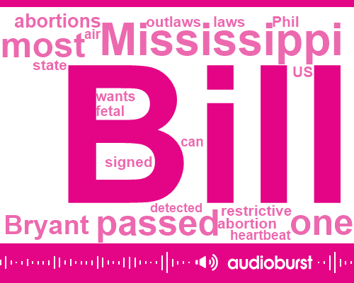 Listen: 'Heartbeat' abortion law signed by Mississippi governor