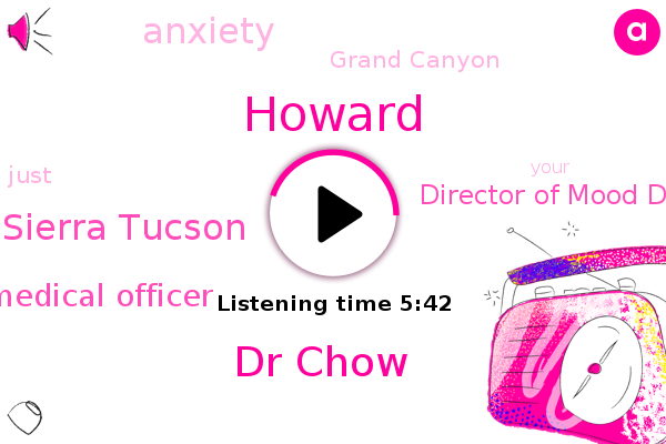 Anxiety,Howard,Grand Canyon,Sierra Tucson,Dr Chow,Medical Officer,Director Of Mood Disorders