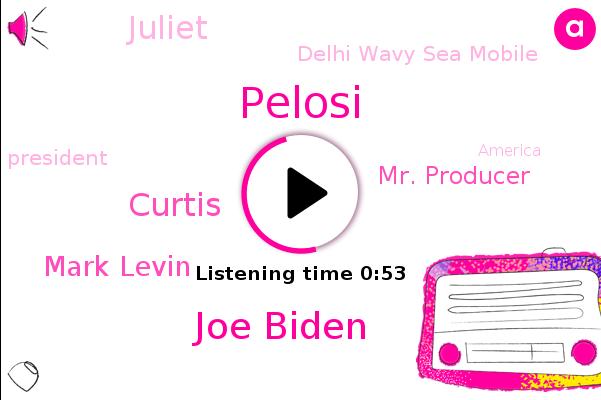 Delhi Wavy Sea Mobile,Joe Biden,Pelosi,Curtis,Mark Levin,Mr. Producer,President Trump,America,Juliet