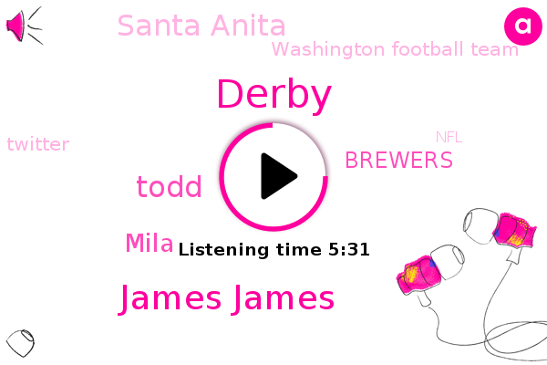 Derby,Brewers,Santa Anita,James James,Washington Football Team,Twitter,NFL,Washington,Youtube,Todd,Facebook,Nevada,Mila