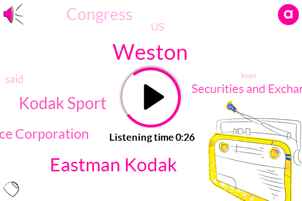 Eastman Kodak,Kodak Sport,International Development Finance Corporation,Securities And Exchange Commission,Weston,United States,Congress