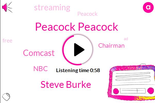 Peacock Peacock,Comcast,Steve Burke,NBC,Chairman