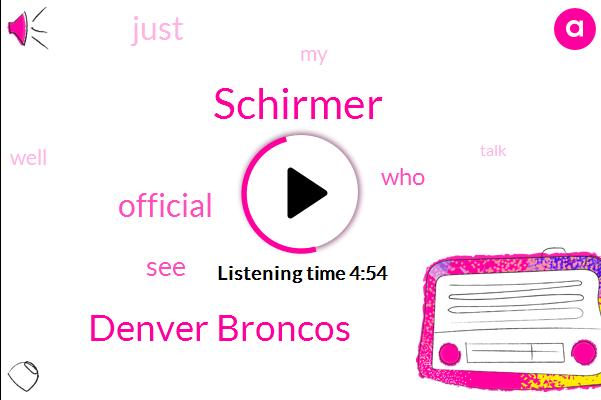 Schirmer,Denver Broncos,Official