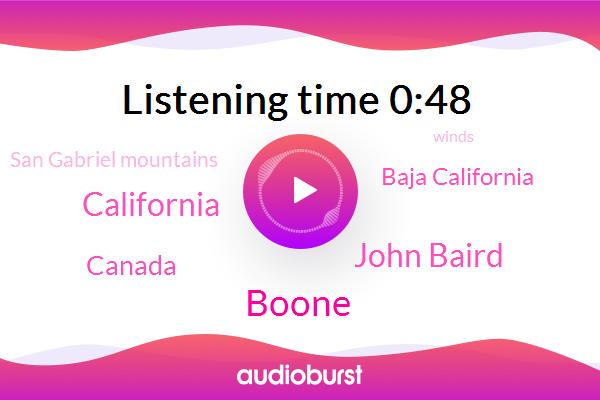 California,Canada,San Gabriel Mountains,Baja California,Boone,John Baird