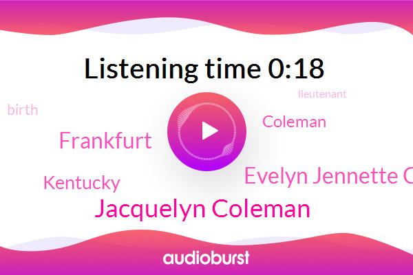 Jacquelyn Coleman,Kentucky,Frankfurt,Evelyn Jennette Coleman