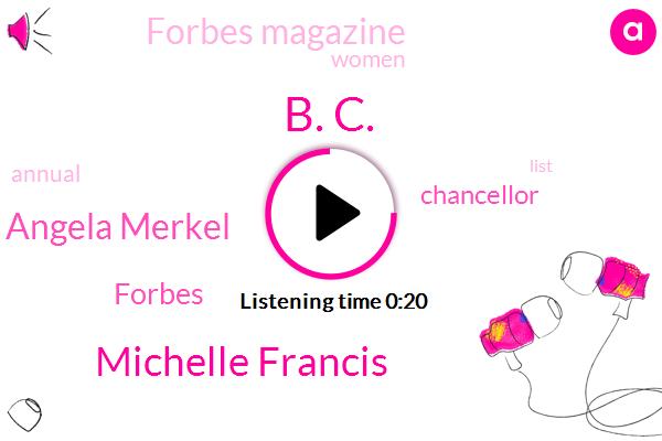 Forbes,B. C.,Michelle Francis,Forbes Magazine,Angela Merkel,Chancellor