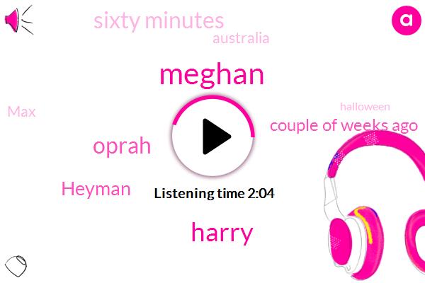 Meghan,Harry,Oprah,Heyman,Couple Of Weeks Ago,Sixty Minutes,Australia,MAX,Halloween,Apple.,Year
